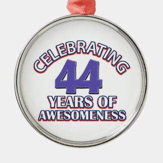 44th birthday designs christmas ornament