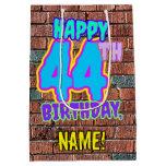 [ Thumbnail: 44th Birthday: Fun, Urban Graffiti Inspired Look Gift Bag ]