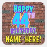 [ Thumbnail: 44th Birthday – Fun, Urban Graffiti Inspired Look Sticker ]