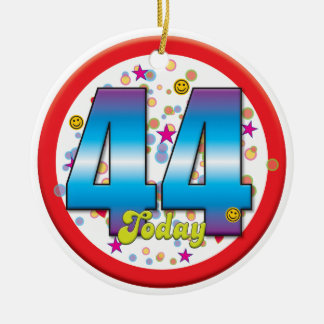 44th Birthday Today v2 Christmas Ornaments
