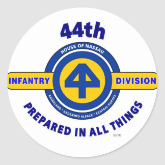 "44TH INFANTRY DIVISION ""PREPARED IN ALL THINGS"" CLASSIC ROUND STICKER"