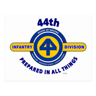 """44TH INFANTRY DIVISION """"PREPARED IN ALL THINGS"""" POSTCARD"""