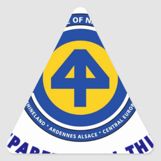 """44TH INFANTRY DIVISION """"PREPARED IN ALL THINGS"""" TRIANGLE STICKER"""
