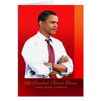44th President, Barack Obama Card