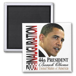 44th President Barack Obama Inauguration Magnet