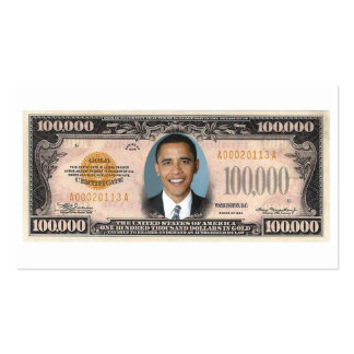 44TH President of the United States Barack Obama. Double-Sided Standard Business Cards (Pack Of 100)