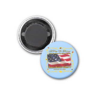44th President of the USA Gifts and Apparel 1 Inch Round Magnet
