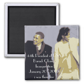 44th President of USA 2 Inch Square Magnet