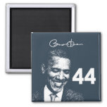 44th President: President Obama with signature Refrigerator Magnet