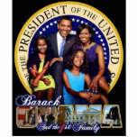"""44th Presidential Family Sculpture w/stand<br><div class=""""desc"""">Presidential photo sculpture.</div>"""