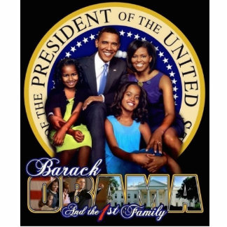 44th Presidential Family Sculpture w/stand
