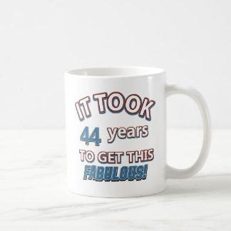 44th year birthday designs coffee mug