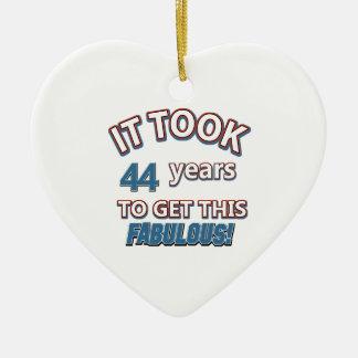 44th year birthday designs ornament