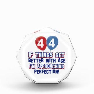 44th year old birthday design acrylic award
