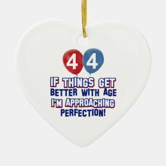 44th year old birthday design ornament