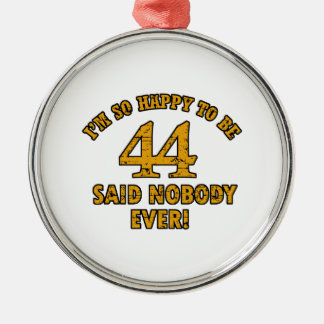 44th year old gifts christmas ornaments