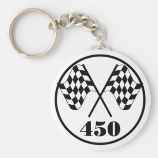 450 Checkered Flag Keychain