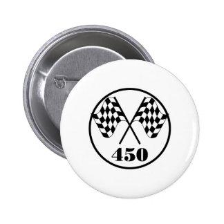 450 Checkered Flag Pinback Button