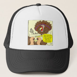 450 turkey commitment Cartoon Trucker Hat