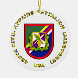 450th Civil Affairs Battalion Ceramic Ornament