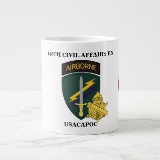 450TH CIVIL AFFAIRS BATTALION JUMBO MUG 20 OZ LARGE CERAMIC COFFEE MUG