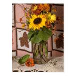 4531 Autumn Floral Postcard