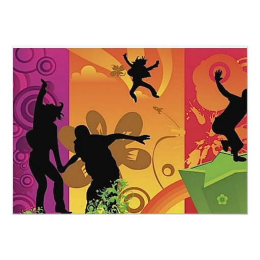 4532-Happiness-is-colorful 5x7 Paper Invitation Card