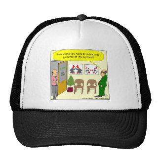 453 pictures of my mother cartoon trucker hat