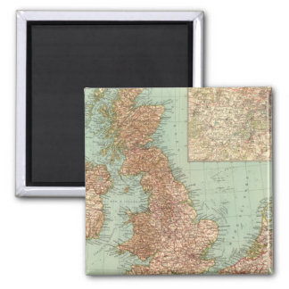 4546 Gran Bretagna 2 Inch Square Magnet