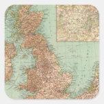 4546 Gran Bretagna Pegatina Cuadrada