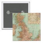 4546 Gran Bretagna Pin Cuadrada 5 Cm