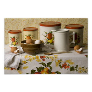 4549 Bowl Pitcher & Cannisters Still Life Poster