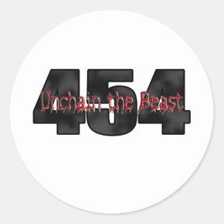 454 Big Block Beast Stickers