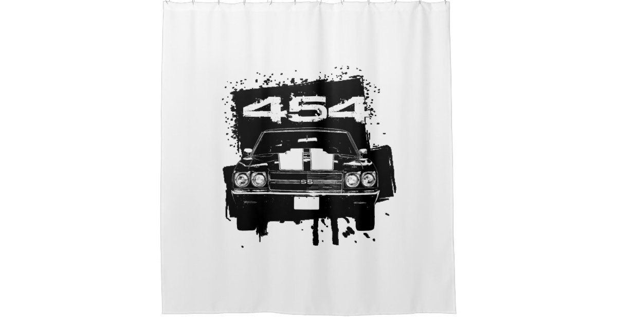 454 Chevy Shower Curtain