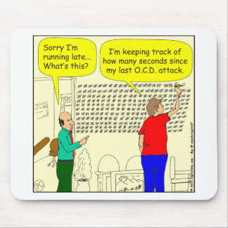 454 OCD seconds Cartoon Mouse Pad