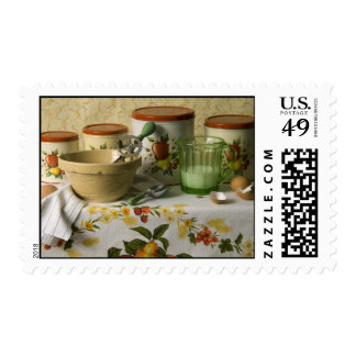 4558 Kitchen Canisters Still Life Postage