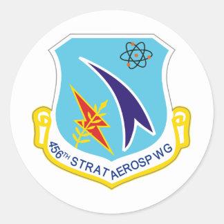 456o Ala aeroespacial estratégica Etiquetas Redondas