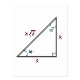 45-45-90 Triangle Postcard