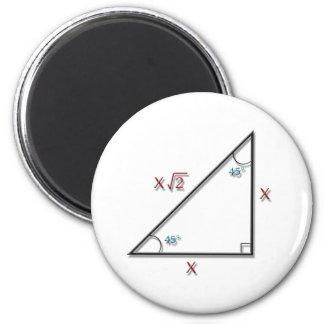 45-45-90 Triangle Refrigerator Magnet