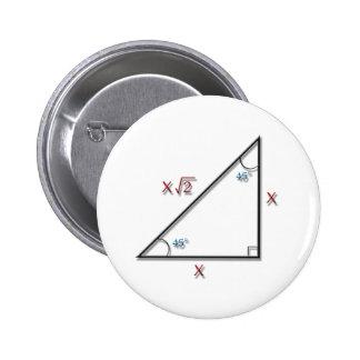 45-45-90 triángulo pins