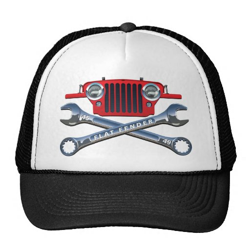 45-49 gorra rojo de Flatfender