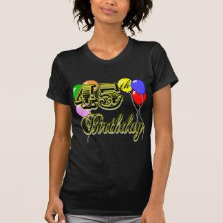 45.a camiseta feliz del cumpleaños poleras