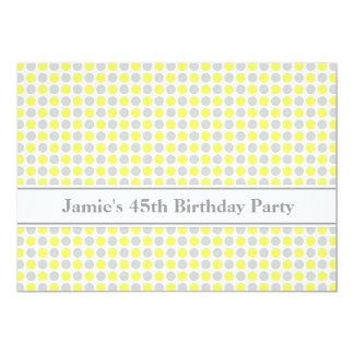 45.a invitación de la fiesta de cumpleaños de los invitación 12,7 x 17,8 cm