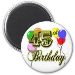 45.a mercancía feliz del cumpleaños iman