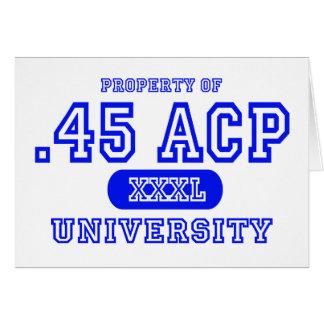 45 ACP University Card