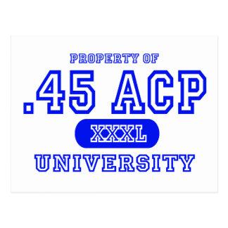 45 ACP University Postcard