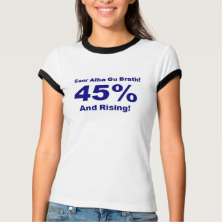 45% And Rising Ladies Ringer T [ Light Bacground ] T-Shirt