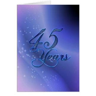 45 años (aniversario) tarjeta de felicitación