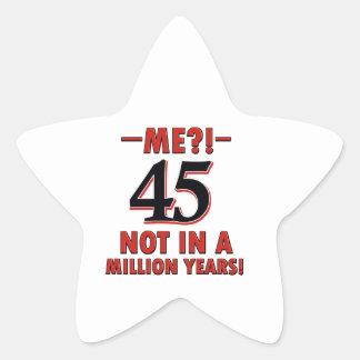45 años de diseños pegatina en forma de estrella