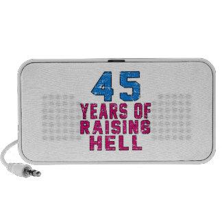 45 años de infierno de aumento mp3 altavoz